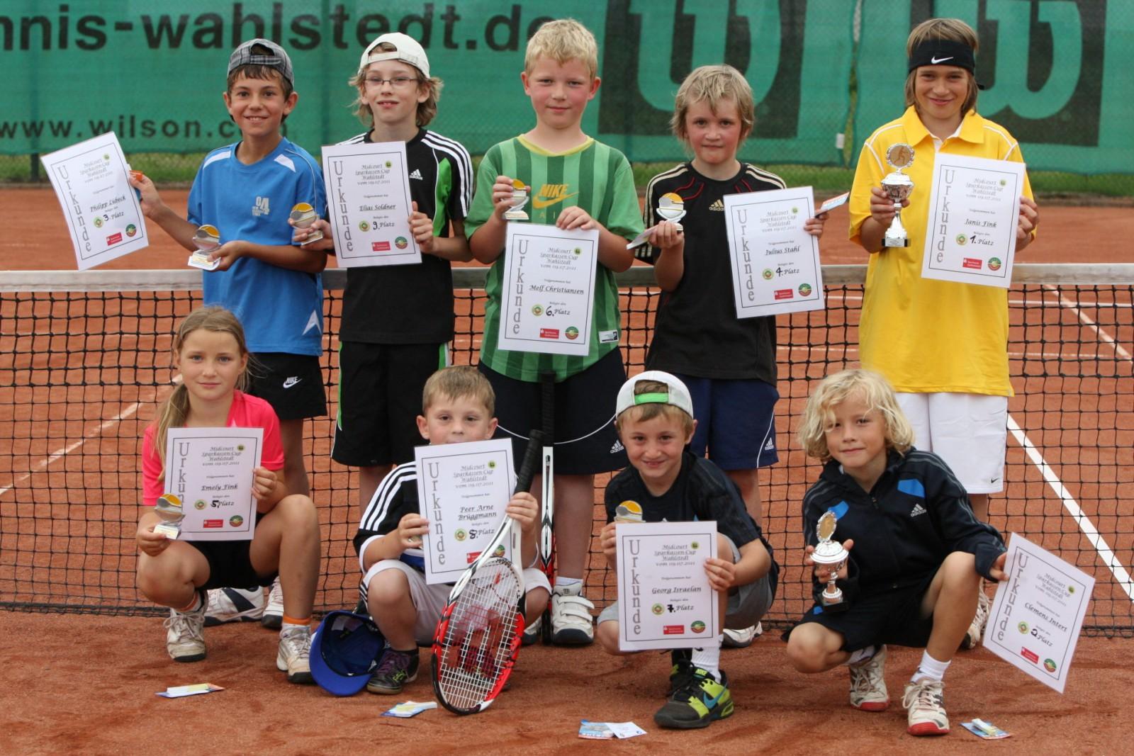Alle Teilnehmer des Sparkassen-Midcourt-Turnieres