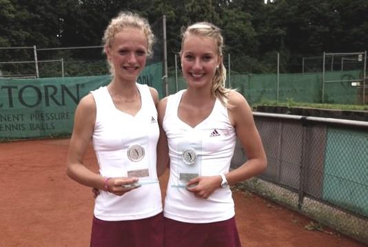 Doppel-Siegerinnen Kimberly Körner und Celine Kirst